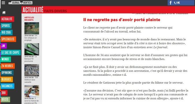 Photo: Le Journal de Montréal
